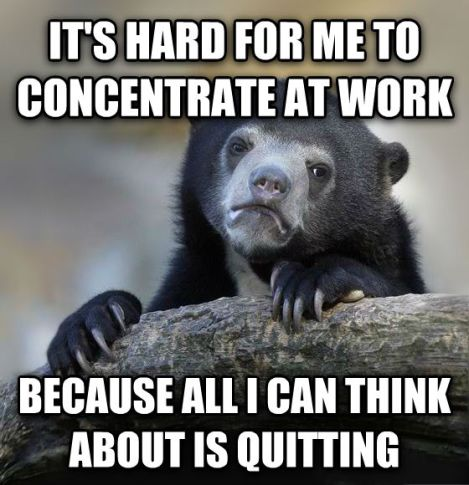 quitting work