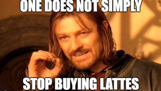stop buying lattes